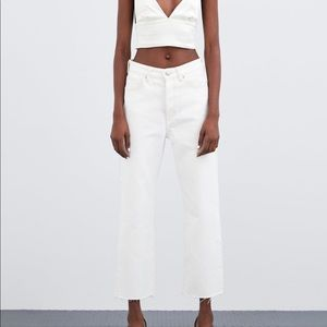 Zara hi rise straight leg jeans